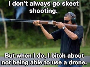 Barack Obama Satire Skeet Shooting