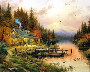 Never Yet Melted Thomas Kinkade Painter Of Light Died Friday At