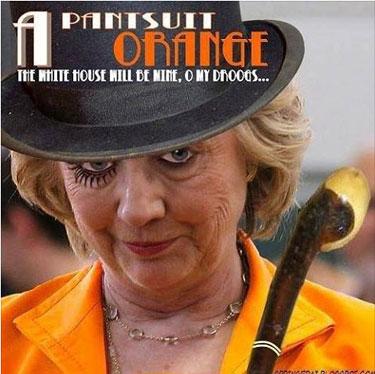 HillaryPantsuitOrange